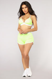 Penelope Shorts - Neon Yellow