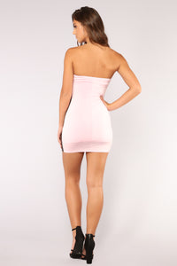 Burst Of Adrenaline Dress - Pink/Black