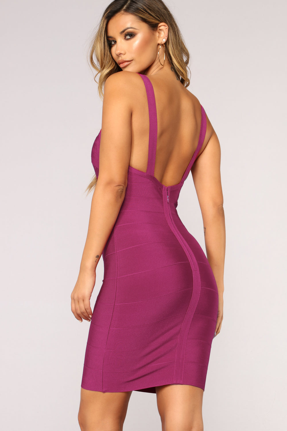Sevilla Bandage Dress - Wine