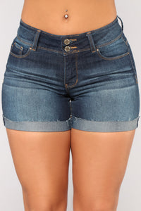 Get Out Of Dodge Bermuda Shorts - Dark Denim Angle 2