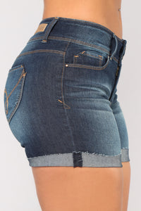Get Out Of Dodge Bermuda Shorts - Dark Denim Angle 4