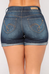 Get Out Of Dodge Bermuda Shorts - Dark Denim Angle 6