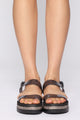 Looking For You Flat Sandal - Black