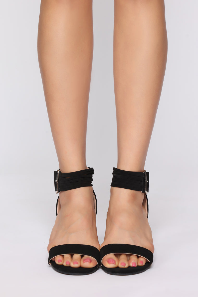Little Cutie Heeled Sandals - Black