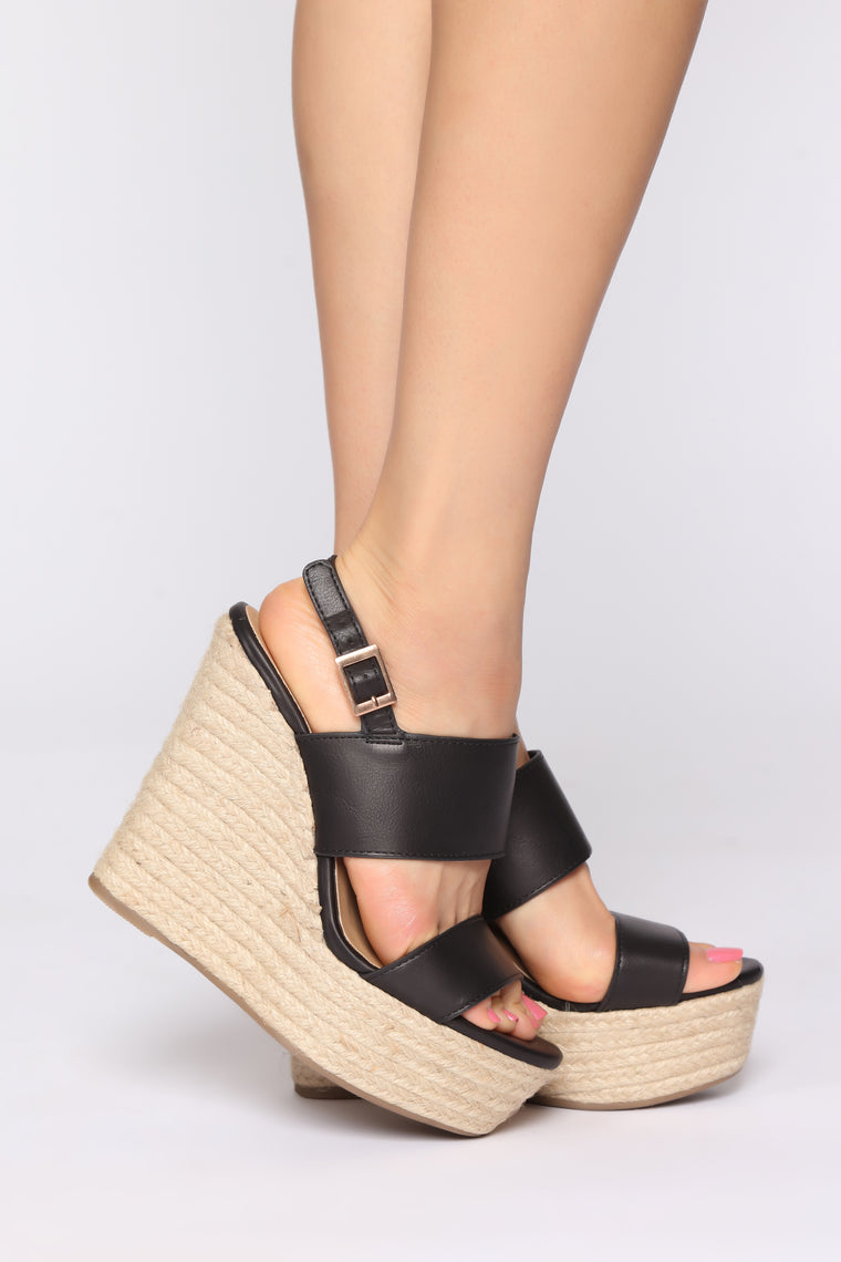 Not This Time Wedges - Black