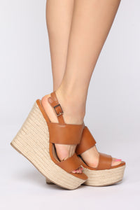 Not This Time Wedges - Tan