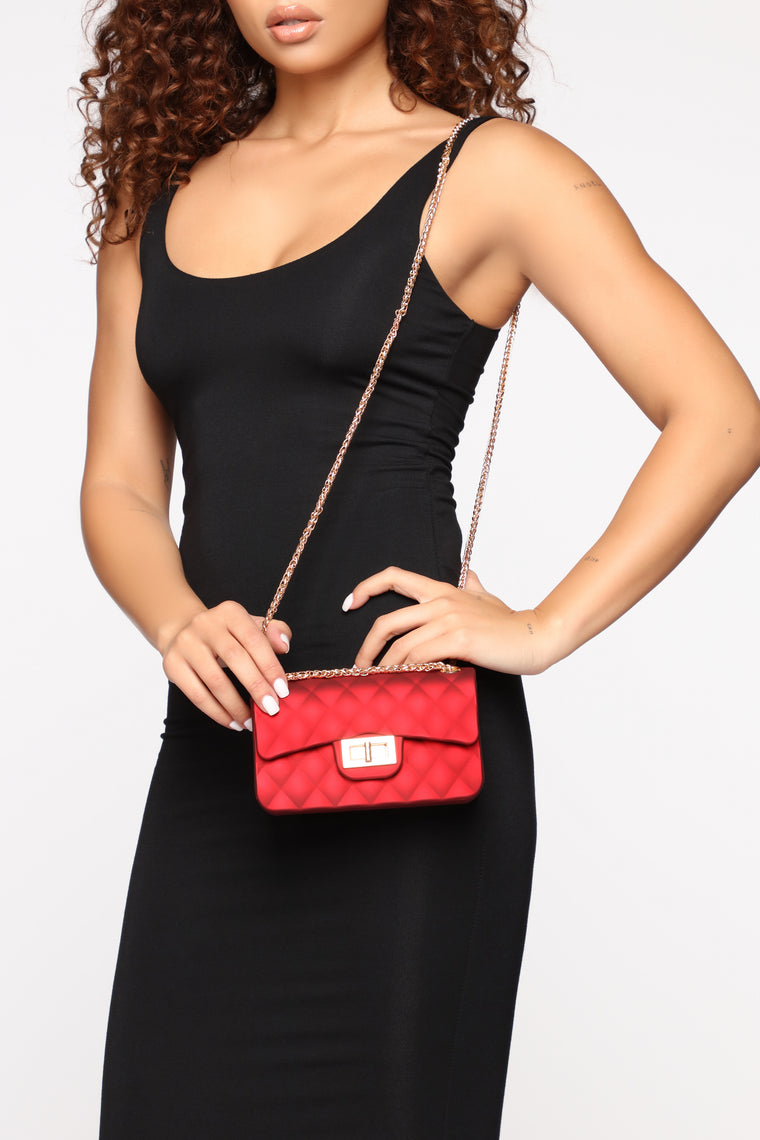 Quilt Being Jelly Crossbody Bag - Red