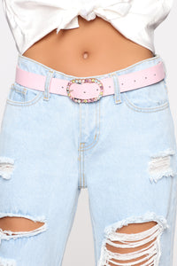Going Round And Round Belt - Pink