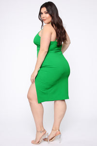 My First Thought Midi Dress - Green