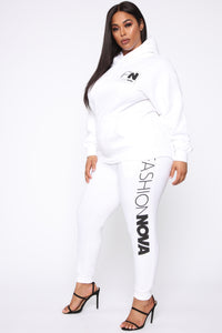 Stole Your Boyfriend's FN Hoodie - White/Black