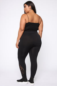 Keep You Motivated Seamless Leggings - Black