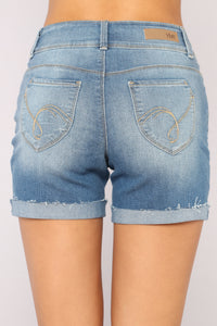 Get Out Of Dodge Bermuda Shorts - Medium Blue Wash