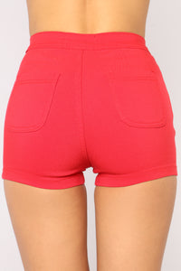 Daily Essential Shorts - Red