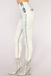 High Waist Honey Jeans - Acid Wash