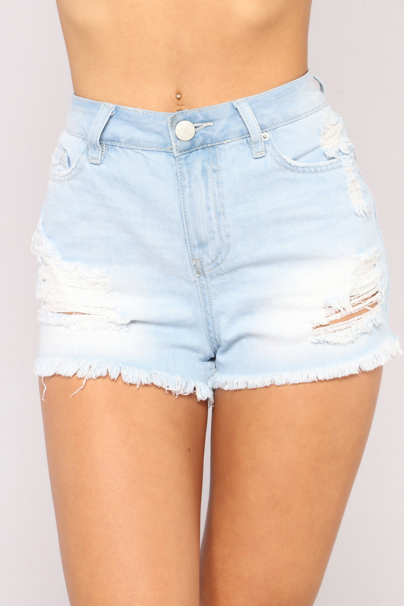 Get Up Stand Up High Rise Shorts - Light