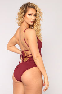 Tulum Vibes Swimsuit - Burgundy