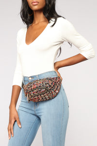 Chantelle Tweed Fanny Pack - Black/Multi