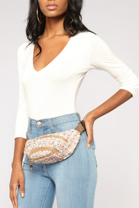 Chantelle Tweed Fanny Pack - Ivory