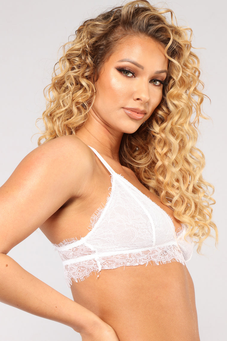 Smothered In Love Bralette - White