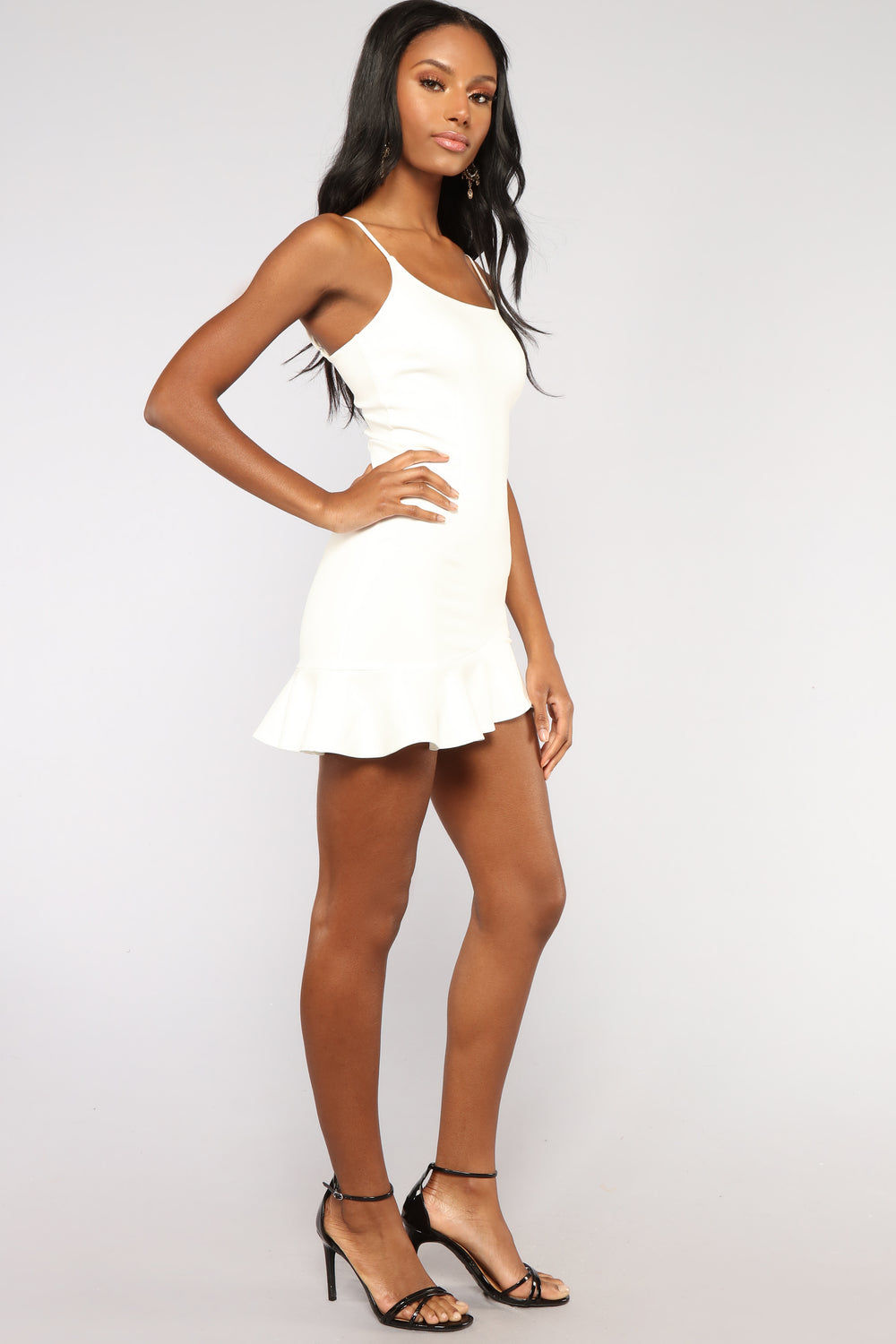 Arin Ruffle Dress - Ivory