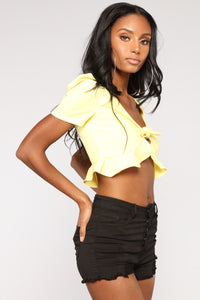 Lissette Ruffle Top - Yellow
