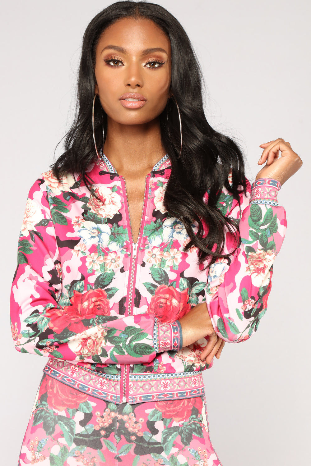 Rylie Rose Floral Lounge Set - Fuchsia