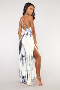 Wave Runner Tie Dye Jumpsuit - Blue