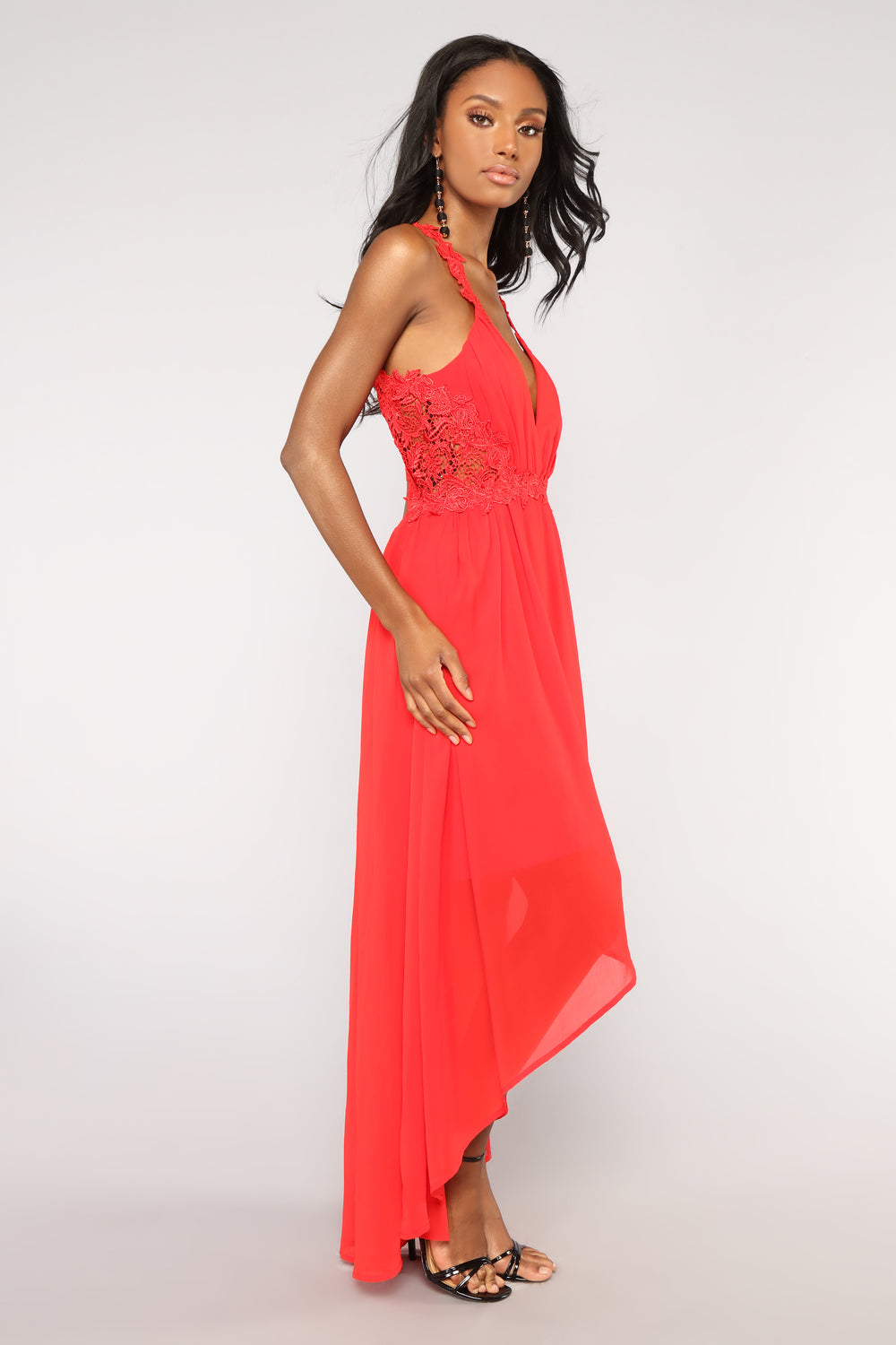 Enlightened High Low Dress - Red