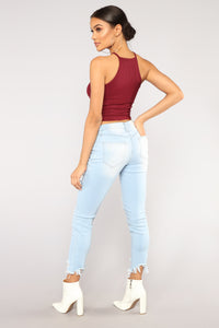 Burning Love Ankle Jeans - Light Wash