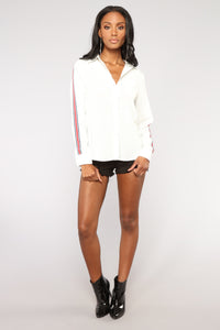 Lianne Button Down Shirt - Off White Angle 2
