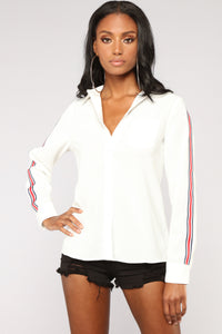 Lianne Button Down Shirt - Off White Angle 1