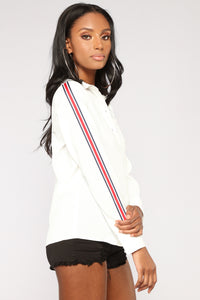 Lianne Button Down Shirt - Off White Angle 3