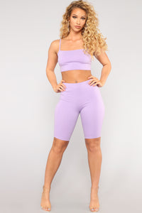 Stop And Stare Athleisure Set - Lavender