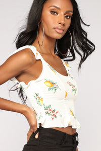 Citrus Sunshine Top - Ivory