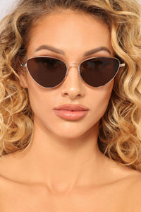 Cristianna Aviator Sunglasses - Gold/Brown