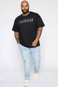 Verified Short Sleeve Tee - Black/combo Angle 8