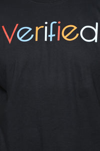 Verified Short Sleeve Tee - Black/combo Angle 12