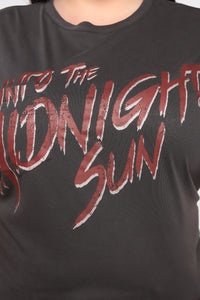 Into The Midnight Sun Top - Black Wash