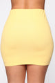 Loosen Up My Buttons Skirt Set - Honey Yellow