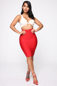 Allure Skirt - Red