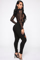 On Top Of It Bodysuit - Black