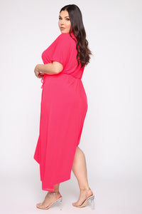Get To You Again Maxi Dress - Neon Pink Angle 3