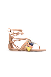 Milani Lace Up Sandal - Camel