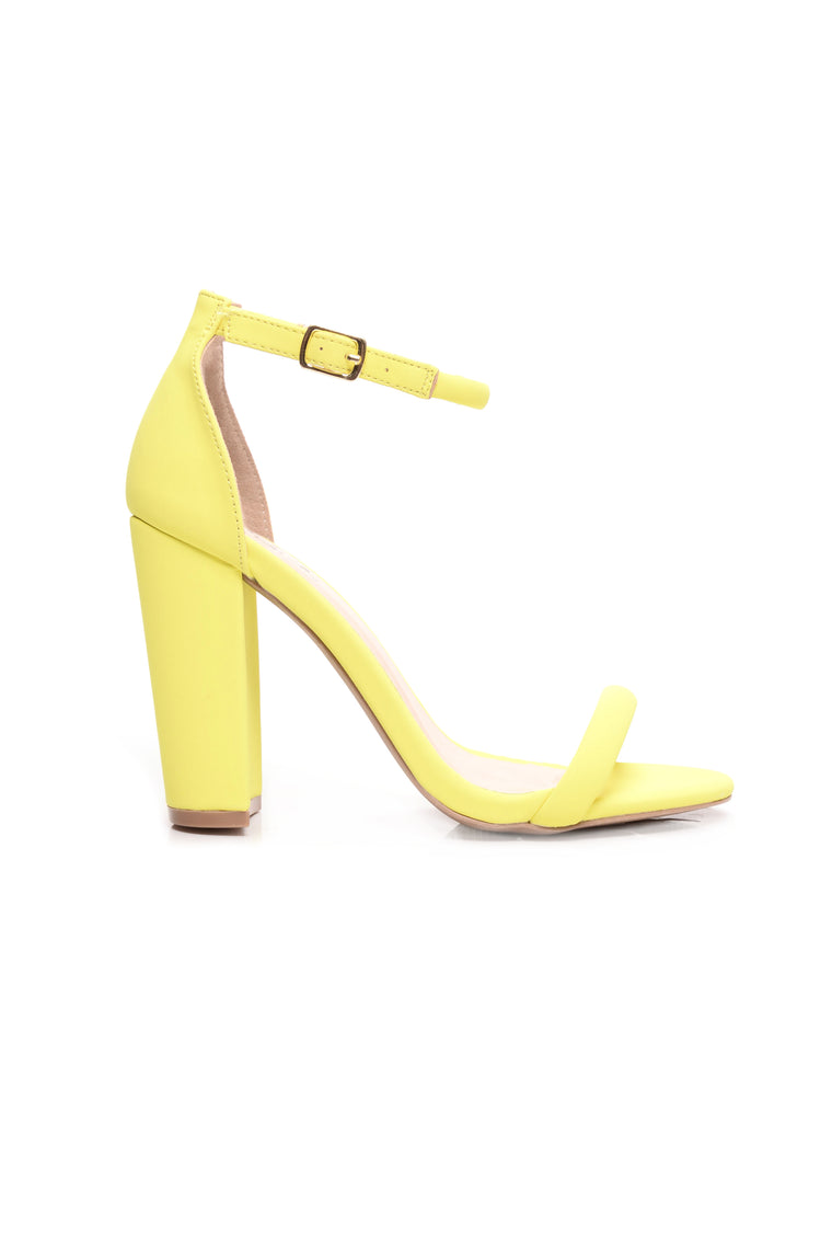 Adalynn Block Heel - Yellow