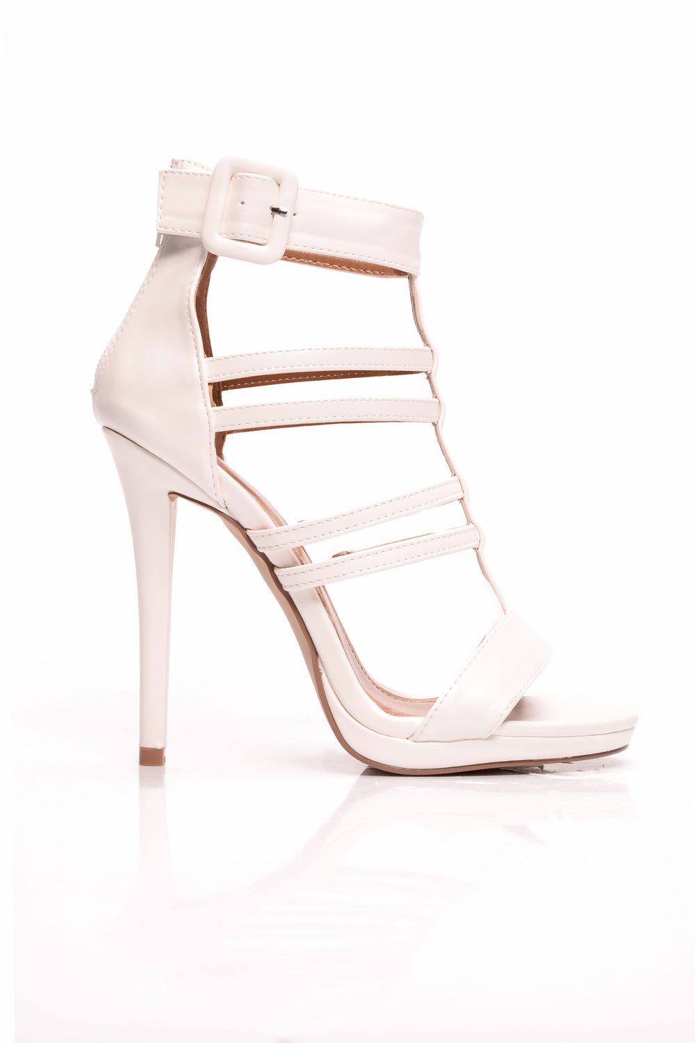 Look The Other Way Heel - White