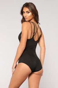 Feline Curves Shapewear Bodysuit - Black