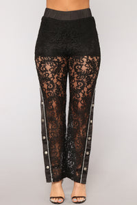 Sexy And You Know It Lace Pants - Black Angle 3