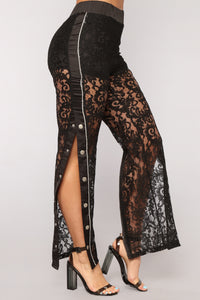 Sexy And You Know It Lace Pants - Black Angle 1