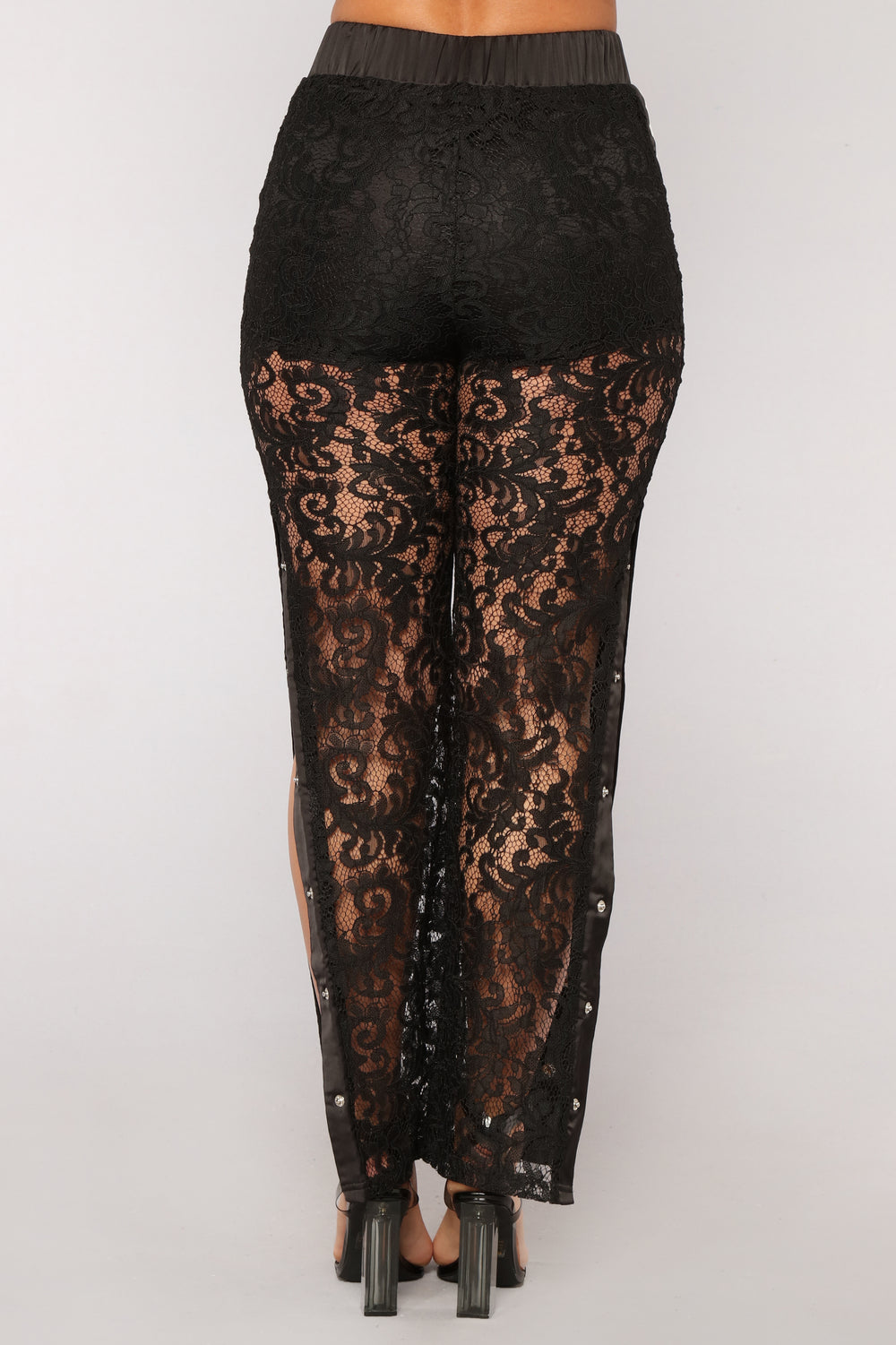 Sexy And You Know It Lace Pants - Black