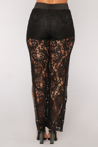Sexy And You Know It Lace Pants - Black Angle 5